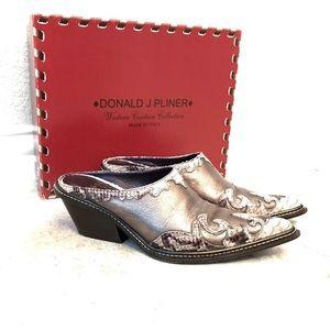 Donald J Pliner Western Couture cobra mules